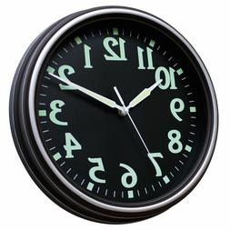 SUNBRIGHT 12 Inch Classic Luminous Wall Clock Silent For Liv