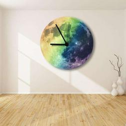 12 Noctilucent Colorful Moon Pattern Decorative Silent Wall