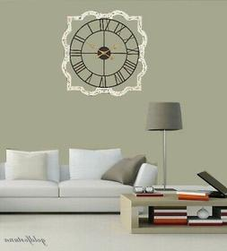 Oversized Wall Clock 30-Inch French Country Style Large Meta
