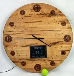 30 wooden wall clock ambrosia maple