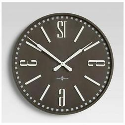 """32"""" Wall Clock in Brown"""