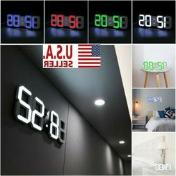 3d digital led big wall desk alarm