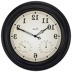 Lacrosse Technology 27915 15.5 in. Analog Wall Clock With Te