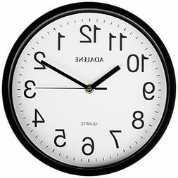 Adalene Wall Clocks Battery Operated Non Ticking - 10 Inch C