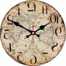 Antique Style Classic Wall Clocks Scenic Patterns 40cm 550g