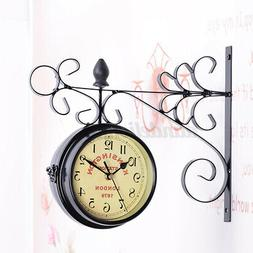 antique wall mount clock garden hallway outdoor