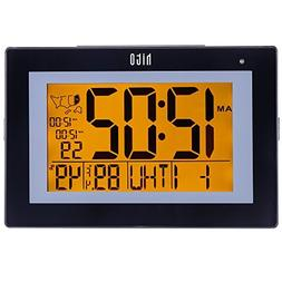 HITO Extra Large Atomic Radio Controlled Desk Wall Clock w/