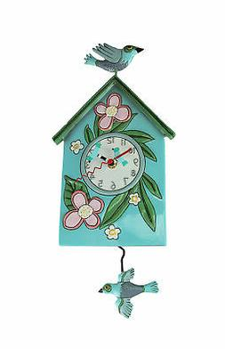 Allen Designs Blessed Nest Birdhouse and Birds Pendulum Wall