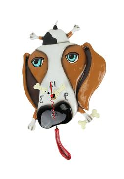 Allen Designs Buckley the Dachshund Dog Wall Mounted Pendulu