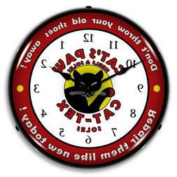 Cat's Paw LED Lighted Wall Clock ~ Made in USA ~