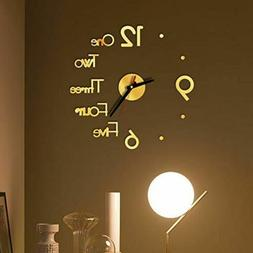 Clock Watch Wall Clocks 3D Acrylic Mirror Stickers Home Deco