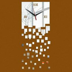 Creative Modern Acrylic Stickers Wall Clocks For Home Living
