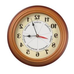 NEW Day Of The Week Clock, Wall Clocks, Plastic, Easy Hangin