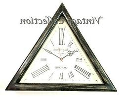 Decorative Wooden Triangle Shape Wall Clock Vintage Nautical