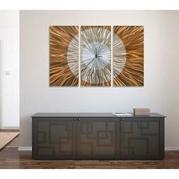 Statements2000 Extra Large Metal Wall Clock Art Modern Coppe