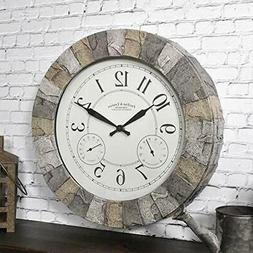 FirsTime & Co. Stoneybrook Clock, American Crafted, Light Gr