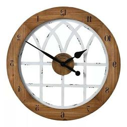 Firstime  Co. Cathedral Arch Wall Clock, Weathered Brown  Wh