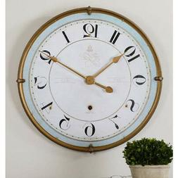 """French Country Blue & Ivory Wall Clock Large 32"""" Farmhouse"""