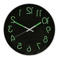 WHAT ON EARTH Glow in The Dark Wall Clock - Analog Retro Sty
