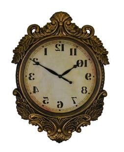 Baroque Style Distressed Gold Victorian Wall Clock