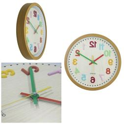 kids wall clock 3d numbers battery operated