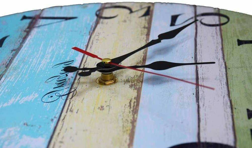 """12"""" Large Indoor/Outdoor Decorative Vintage Country Wall Clock USA"""