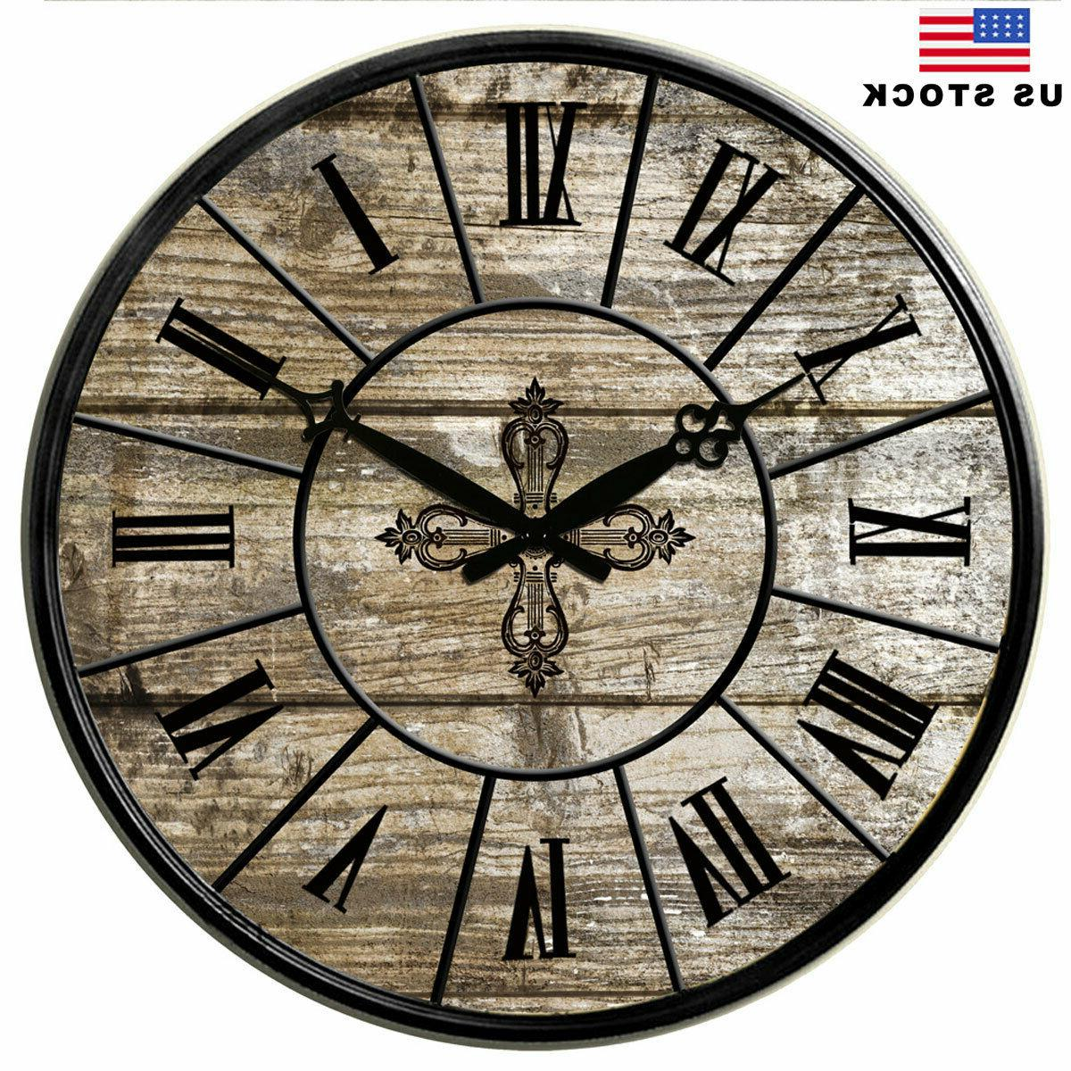 large wooden wall clocks 15 in room