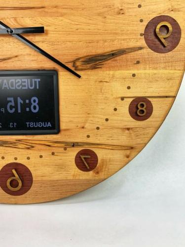 "30"" Wooden Clock Ambrosia With"