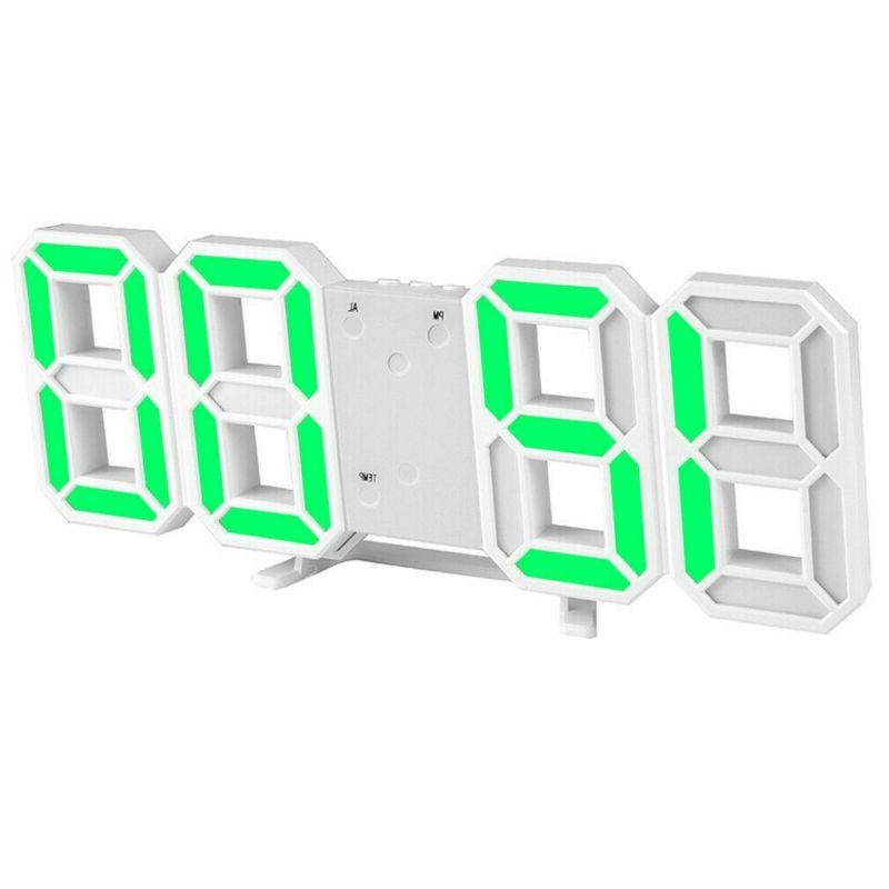 3D Digital Wall Alarm Snooze Brightness