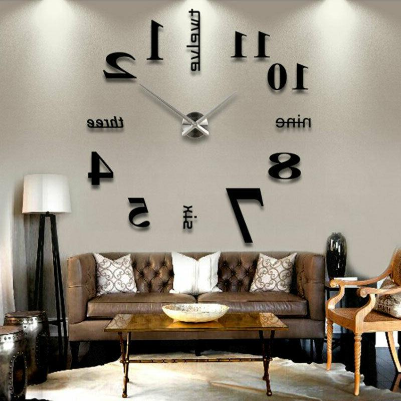 2020 large wall clock oversized living room