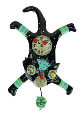 craft attack cat pendulum wall clock