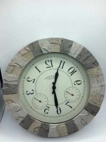 FirsTime Co. Clock, American Crafted, Gray, 14 x