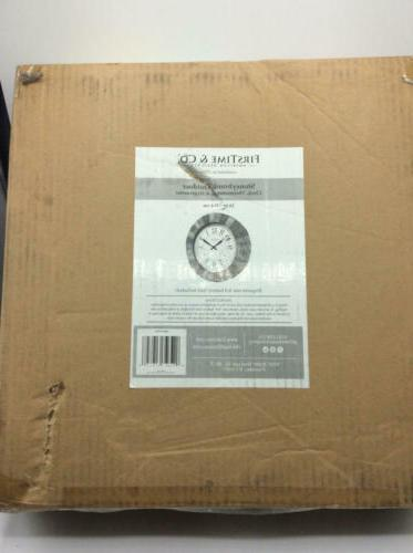 FirsTime Clock, American Crafted, Gray, 14 3 x