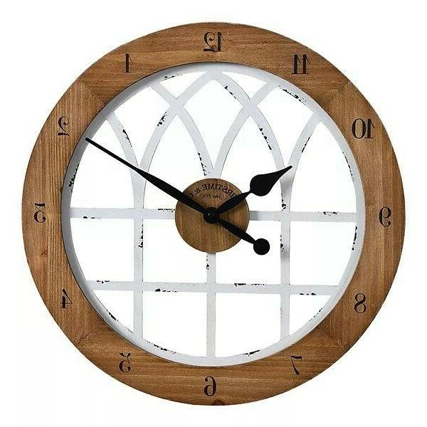 firstime co cathedral arch wall clock weathered