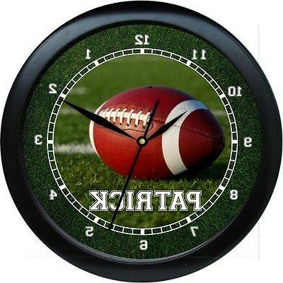 football wall clock 10 personalized gift boys