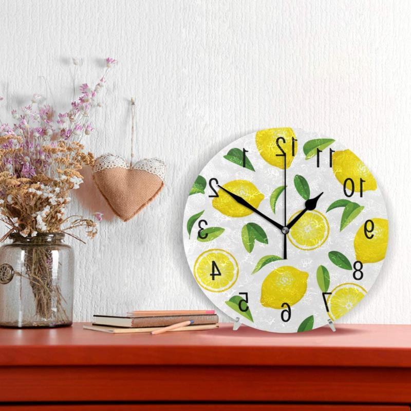 ALAZA Decor Summer Lemon 9.5 inch Clock Non