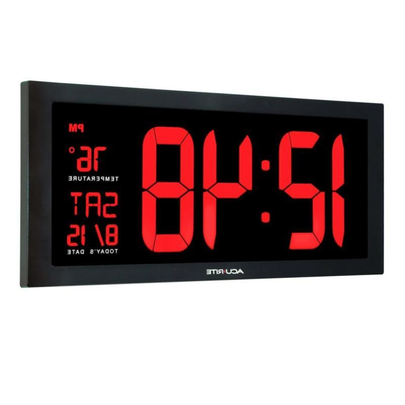 Large Wall Clock Day Led