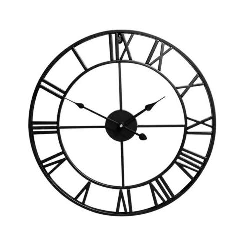 Large Garden Wall Clock Big Numeral Round Face