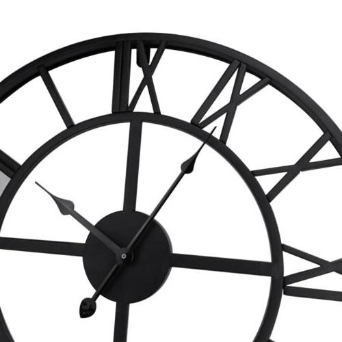 Large Outdoor Wall Clock Numeral Face
