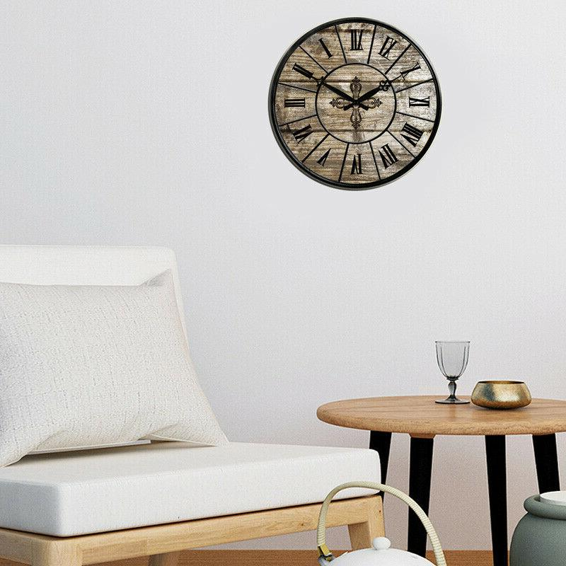 Large Wall 15 in Room Silent Retro Clock Antique