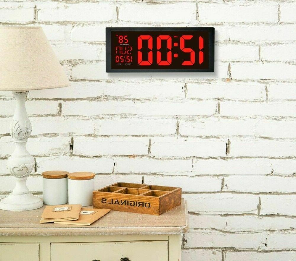 Modern Electronic Clock Screen Clocks with Thermometer