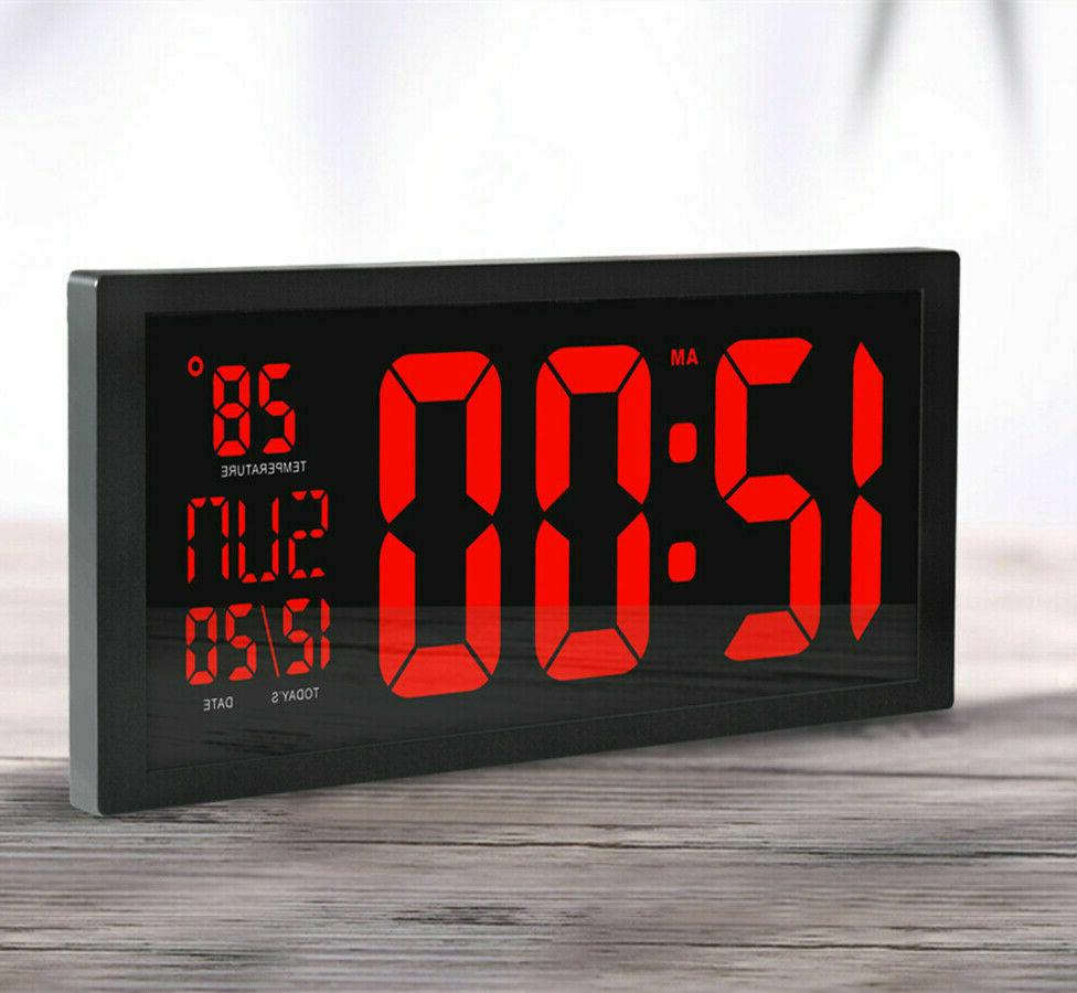 Modern Electronic Clock Digital Clocks with Thermometer