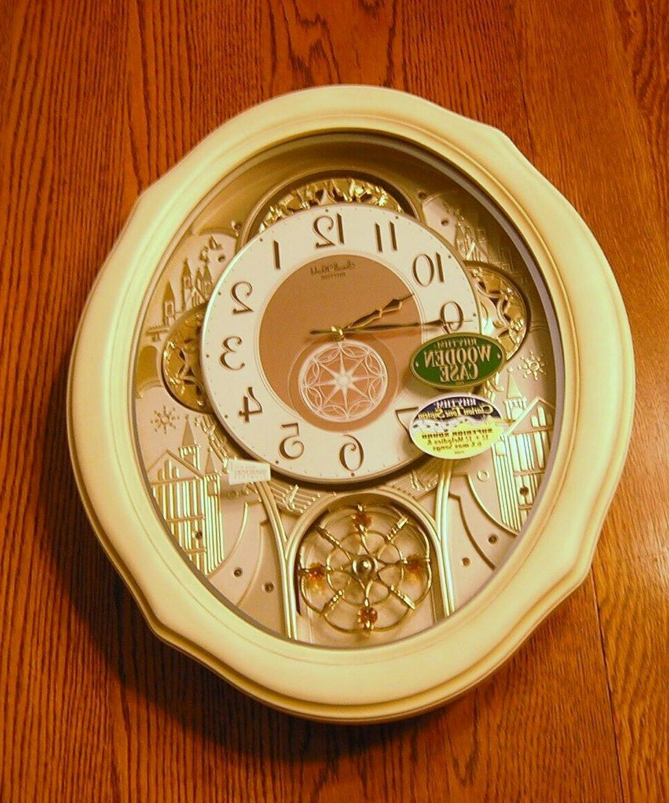 motion musical wall clock ivory cottage no