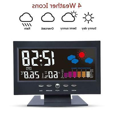 Projection Alarm Snooze LCD Color Display LED