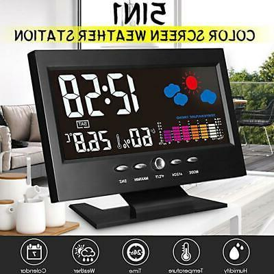 projection digital alarm clock snooze weather thermometer