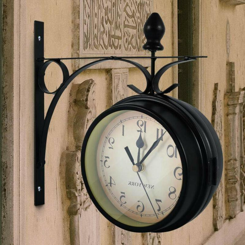 retro double side metal hanging wall mount