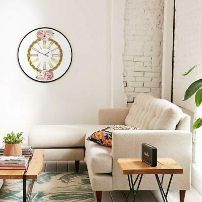 Vogue Round Wall Clock Numerals for Bedroom