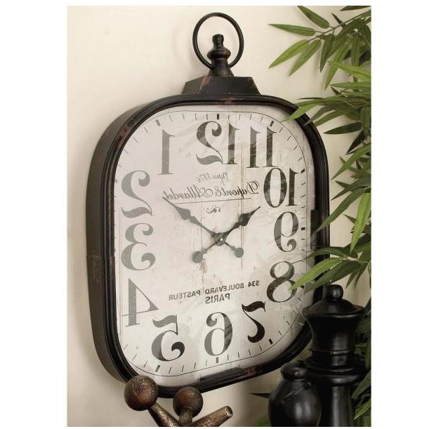 rounded square wall clock old world appeal