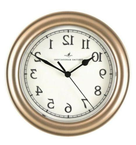 Traditional Round Wall Clock Analog 8.5-in for Kitchen Bath