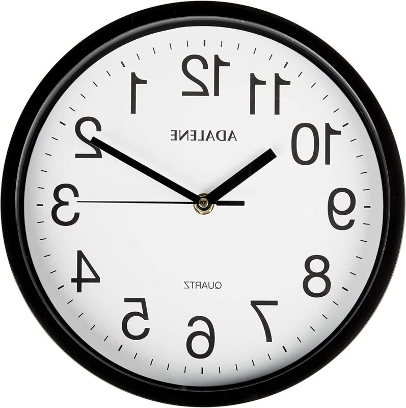 10 Inch Completely Silent Wall Clocks Battery Operated Non T